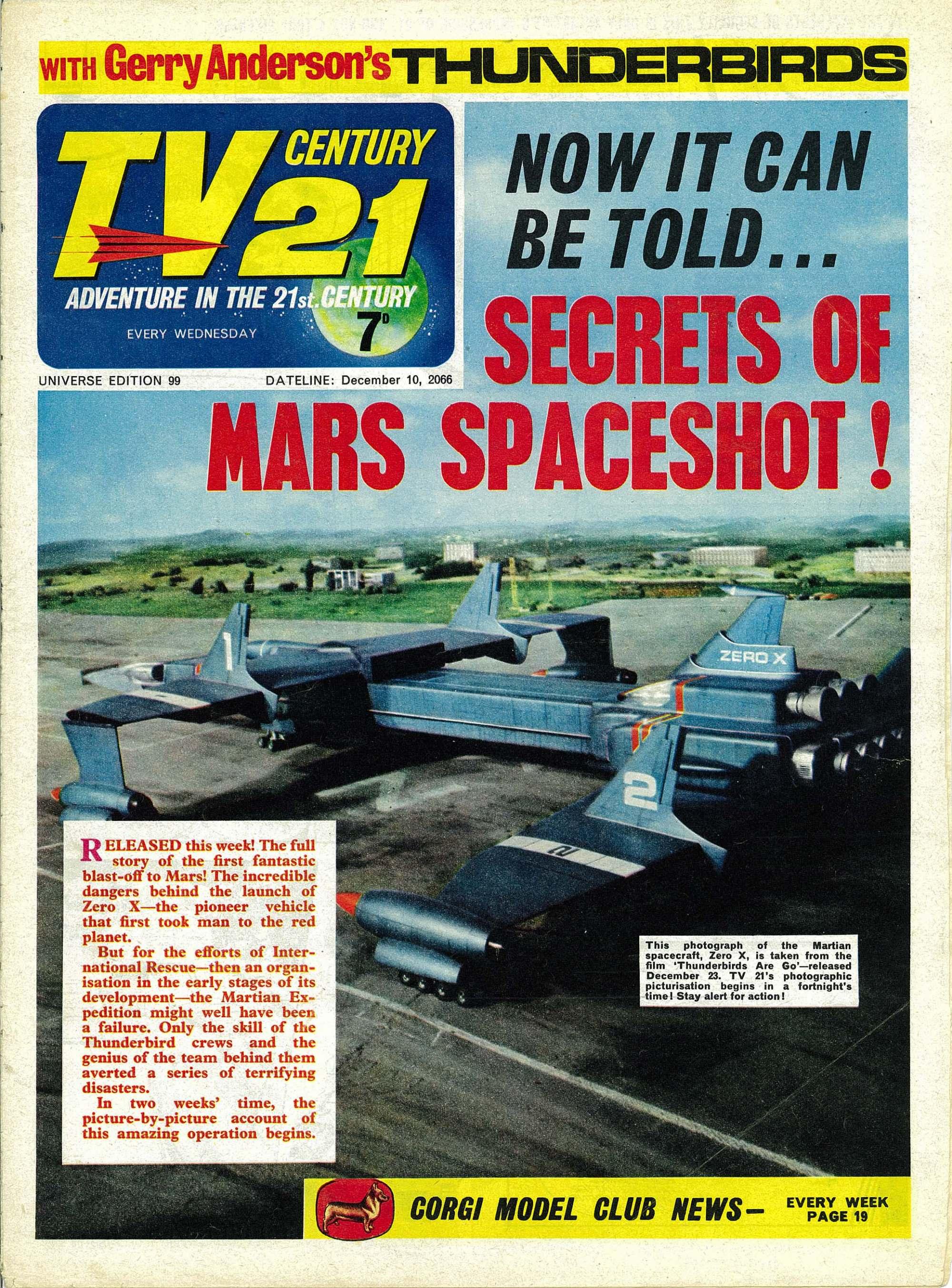 Read online TV Century 21 (TV 21) comic -  Issue #99 - 1
