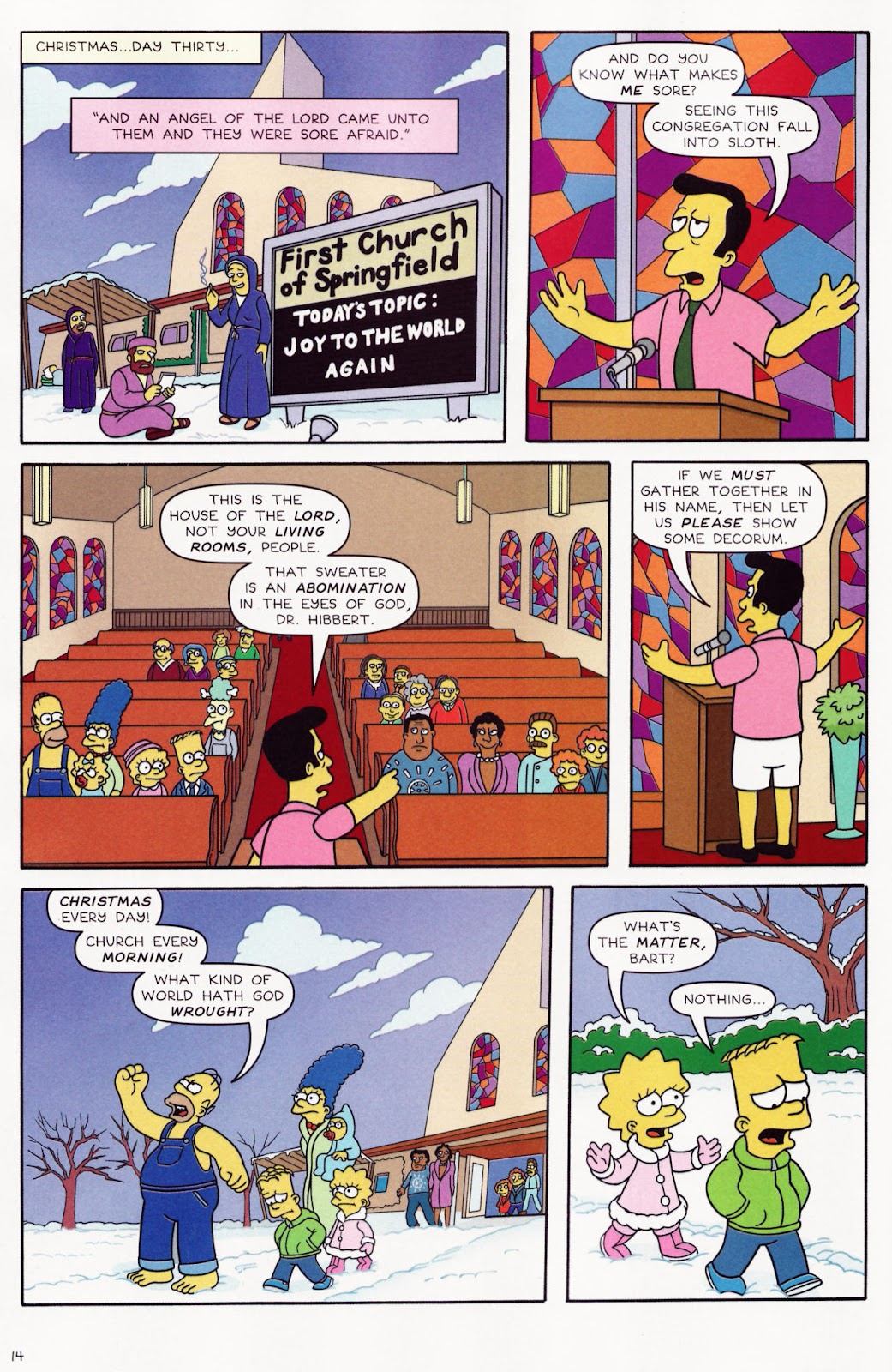 Read online The Simpsons Winter Wingding comic -  Issue #2 - 16
