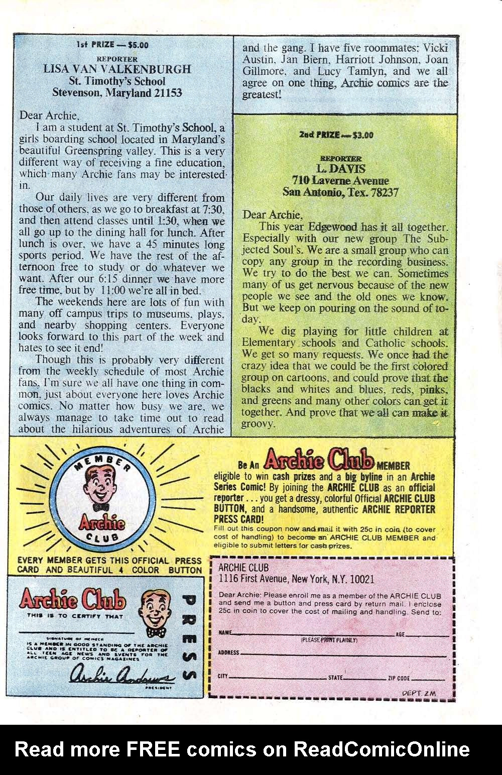 Read online Archie (1960) comic -  Issue #211 - 27