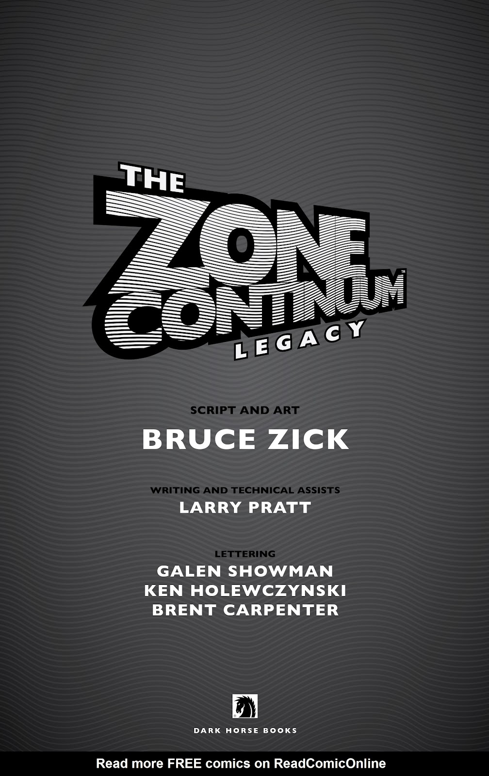 Read online The Zone Continuum: Legacy comic -  Issue # TPB - 5