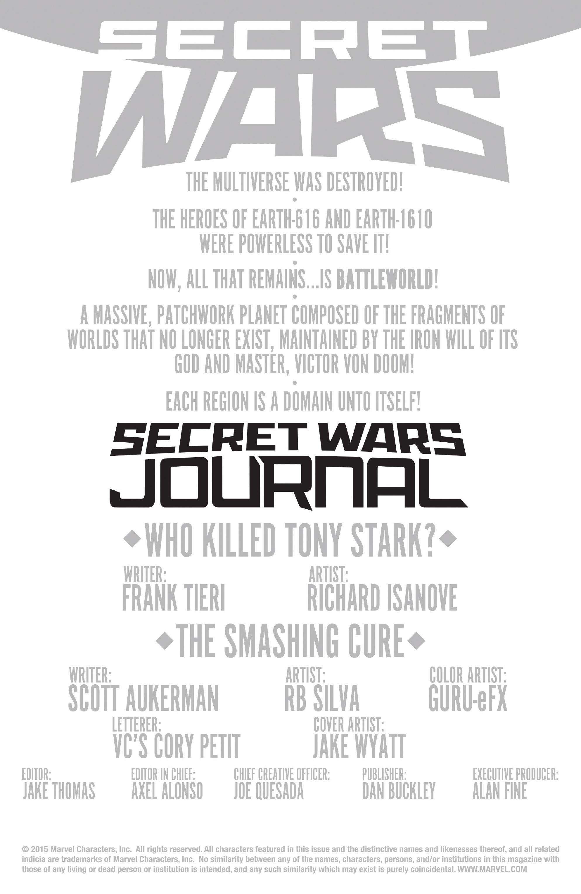 Read online Secret Wars Journal comic -  Issue #3 - 2