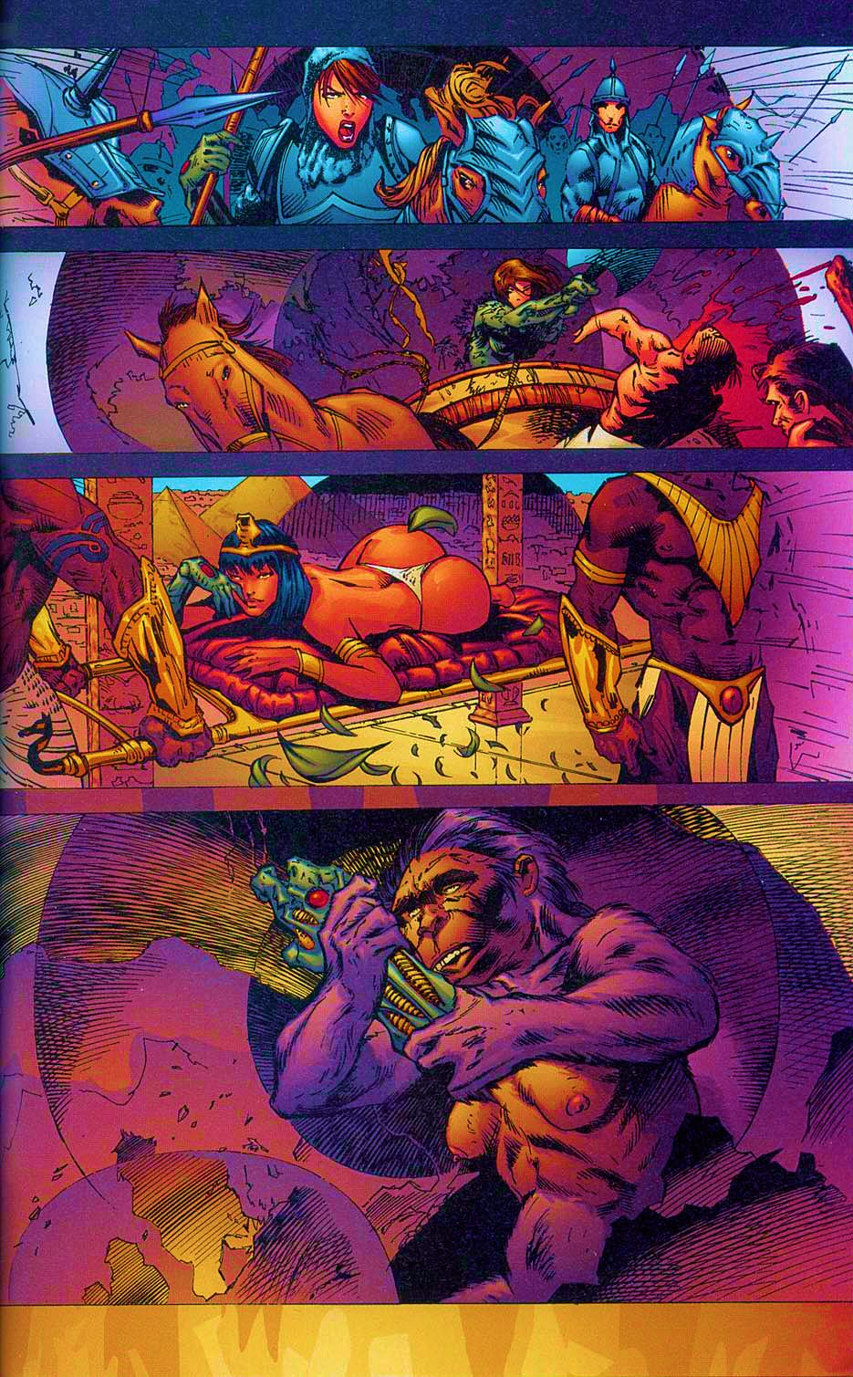 Read online Overkill: Witchblade/Aliens/Darkness/Predator comic -  Issue #2 - 32