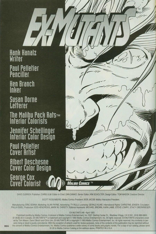 Read online Ex-Mutants comic -  Issue #6 - 2