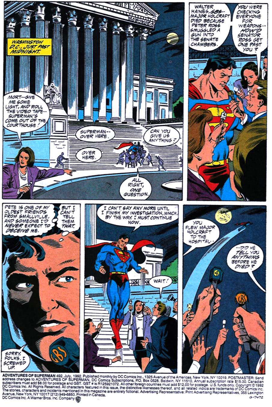 Read online Adventures of Superman (1987) comic -  Issue #492 - 2