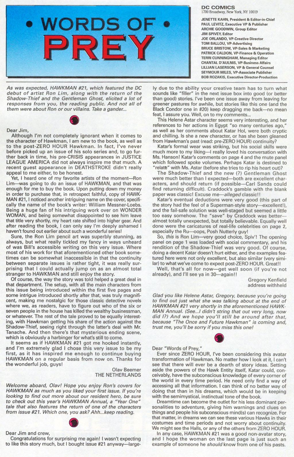 Hawkman (1993) Issue #24 #27 - English 25