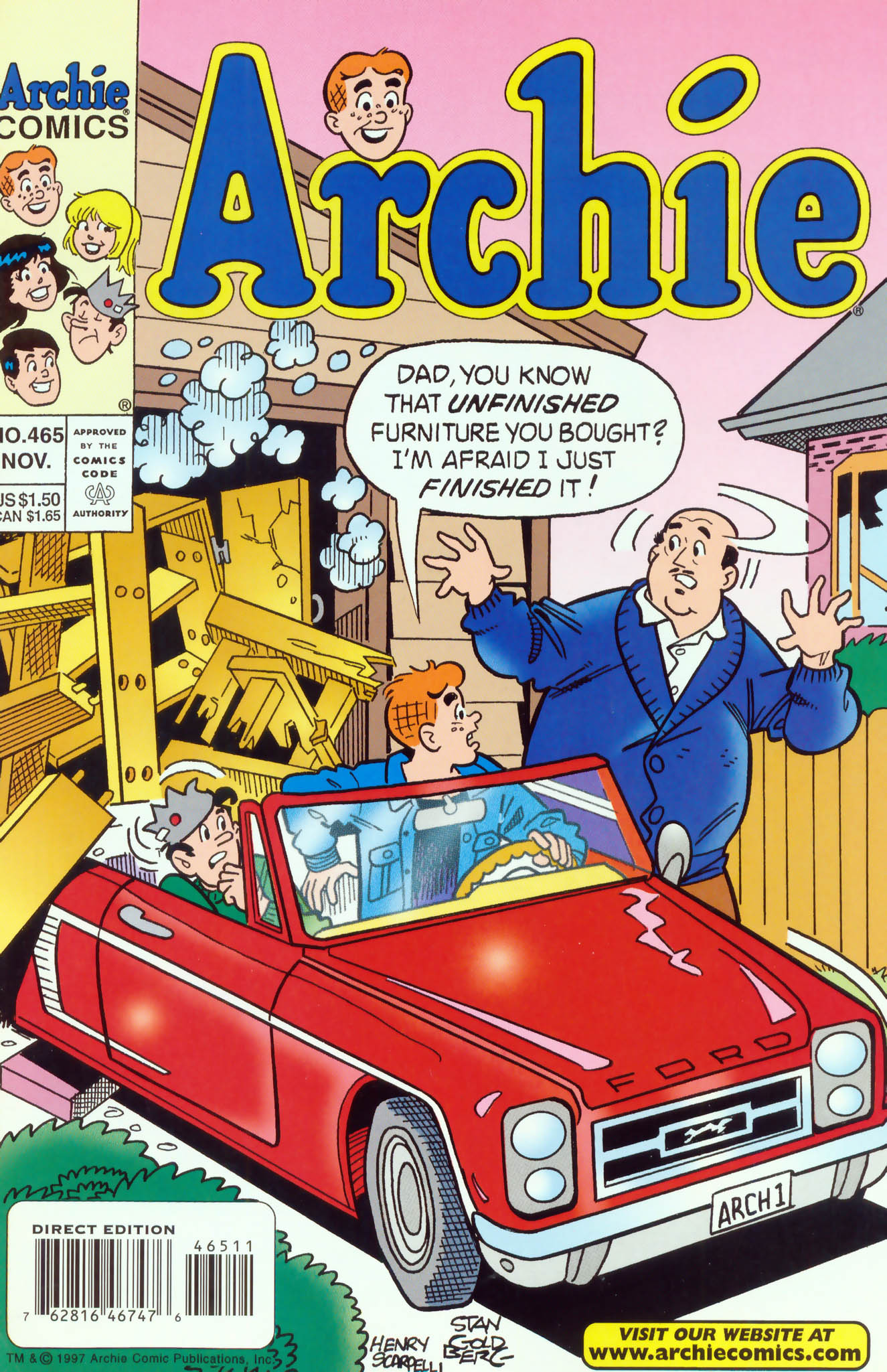 Read online Archie (1960) comic -  Issue #465 - 1