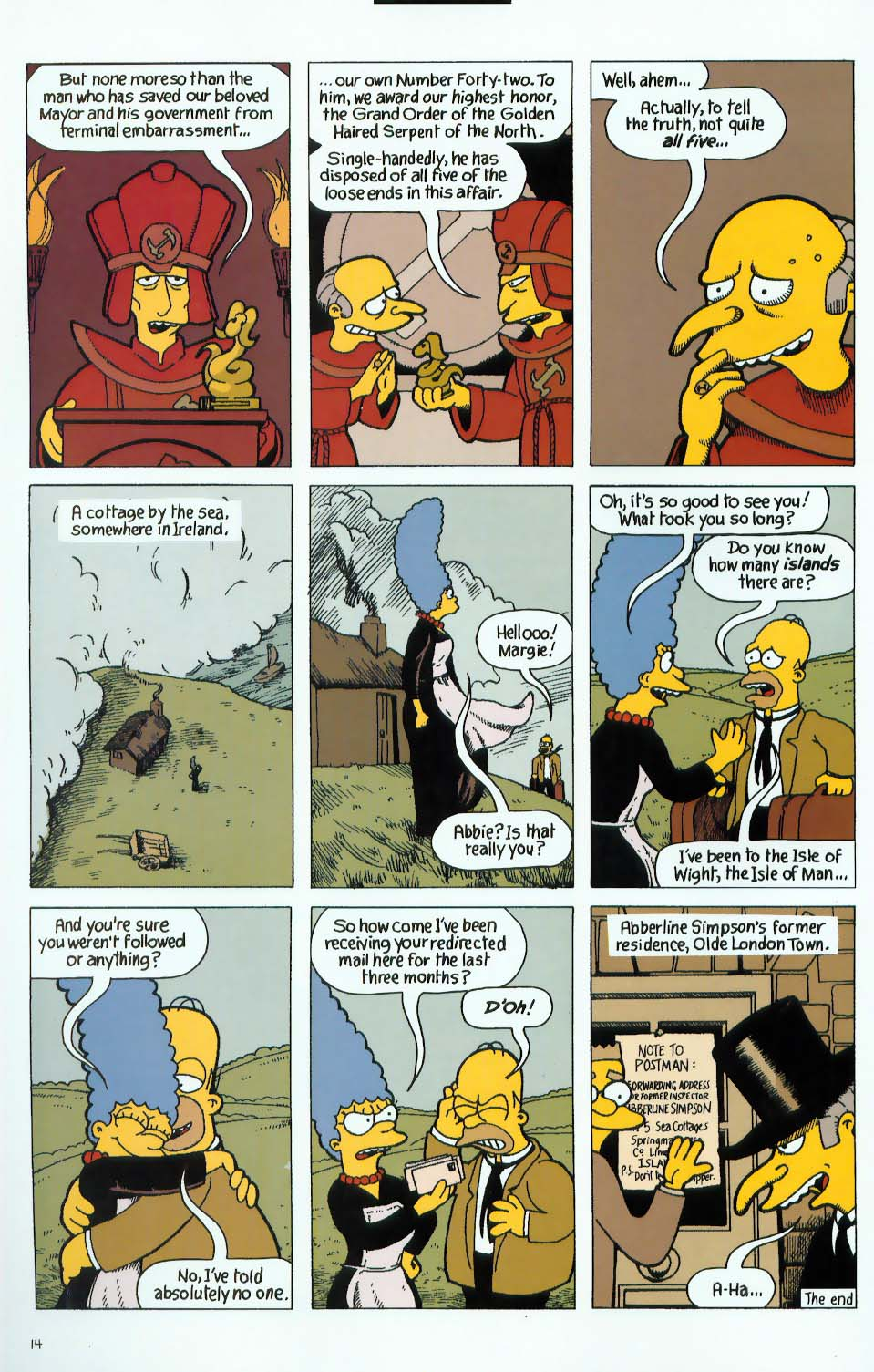 Read online Treehouse of Horror comic -  Issue #9 - 46