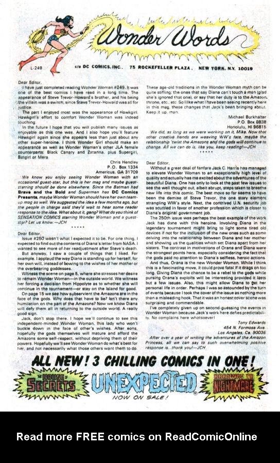 Read online Wonder Woman (1942) comic -  Issue #255 - 28