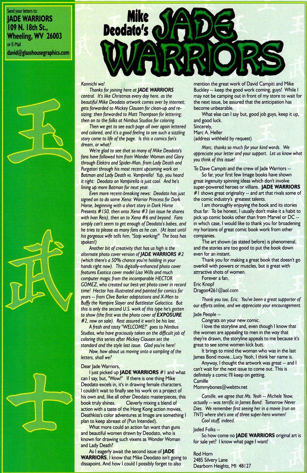 Read online Jade Warriors comic -  Issue #2 - 22