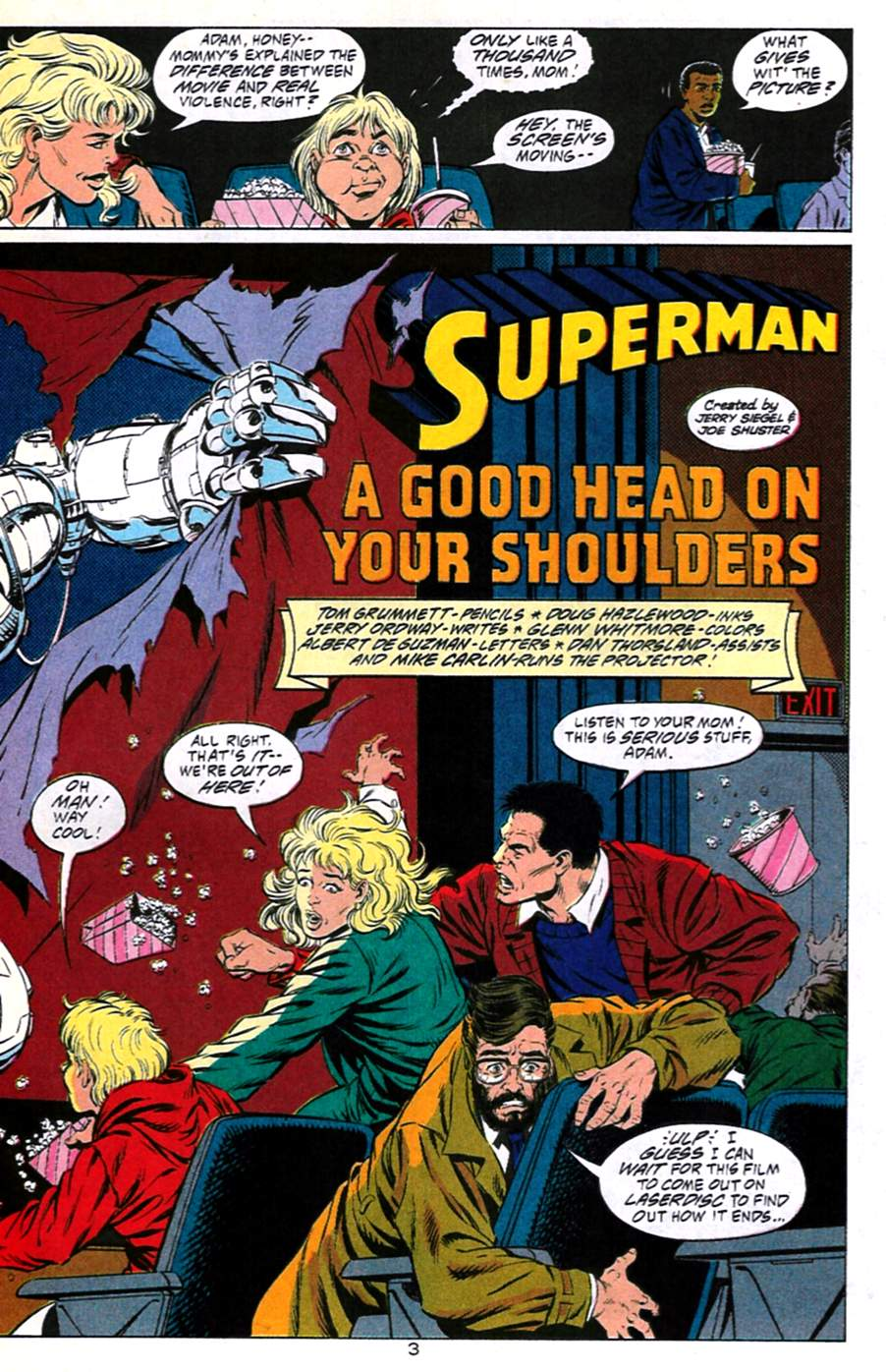 Read online Adventures of Superman (1987) comic -  Issue #491 - 4