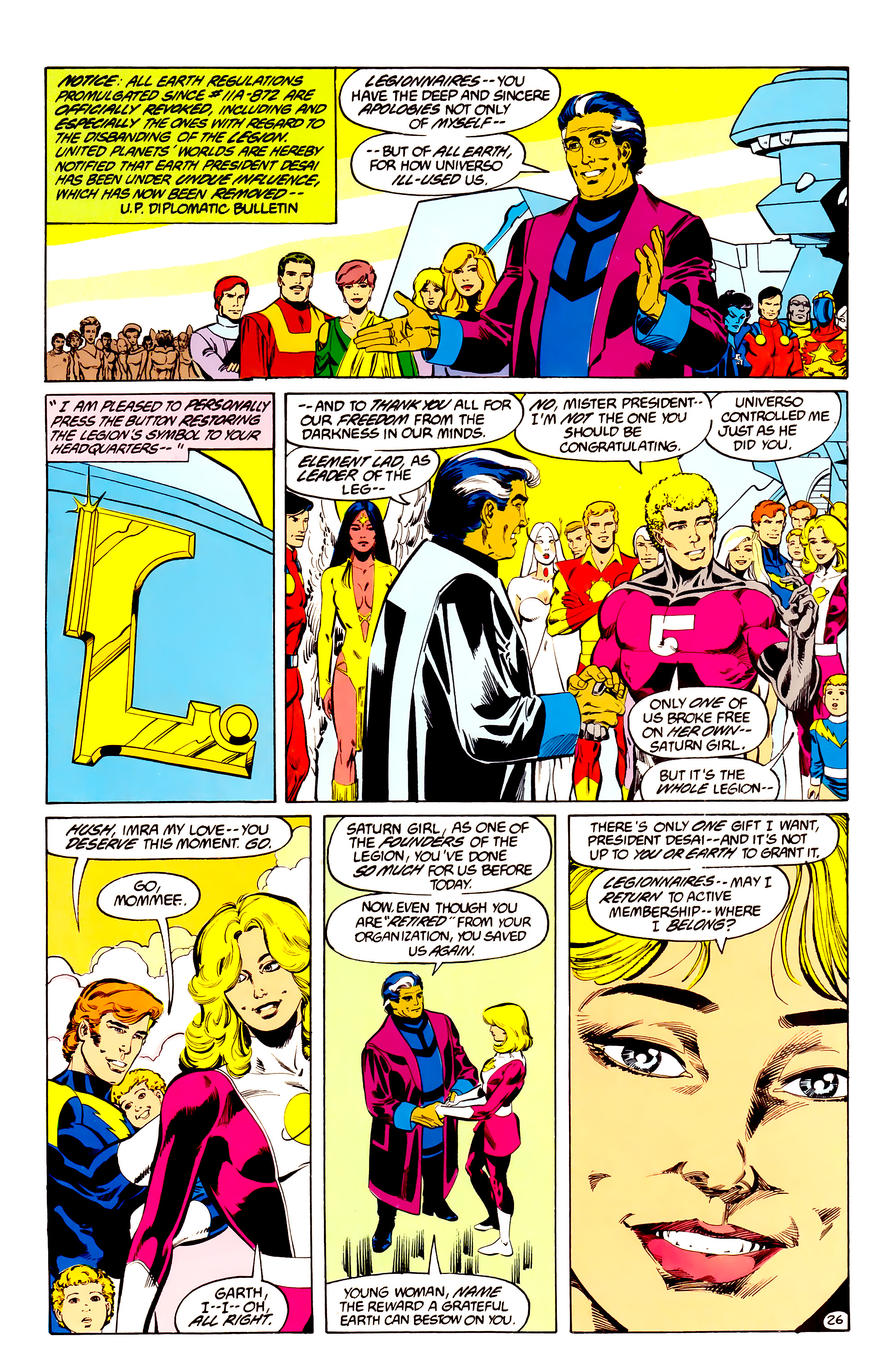 Legion of Super-Heroes (1984) 35 Page 25