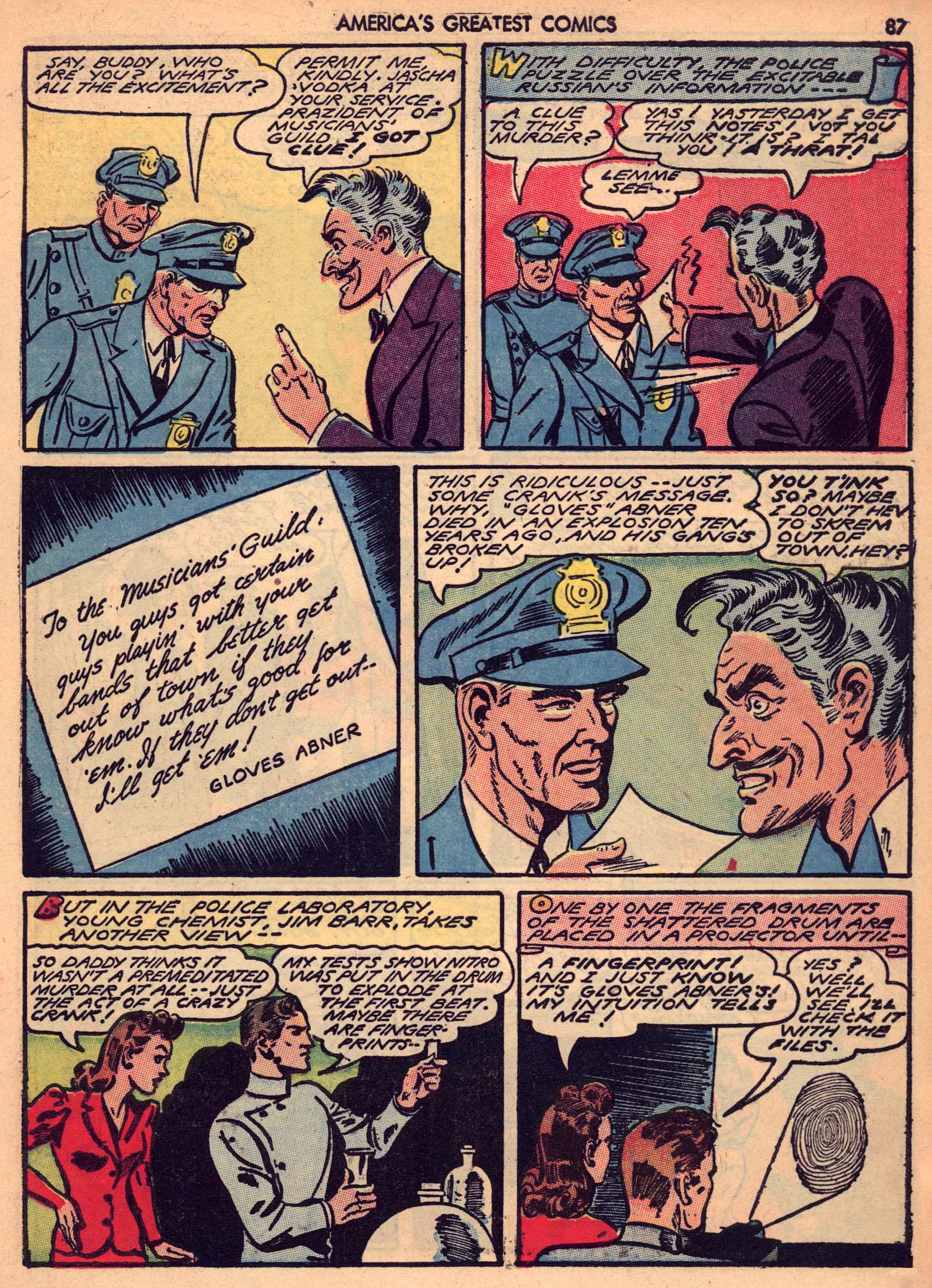 Read online America's Greatest Comics comic -  Issue #7 - 86