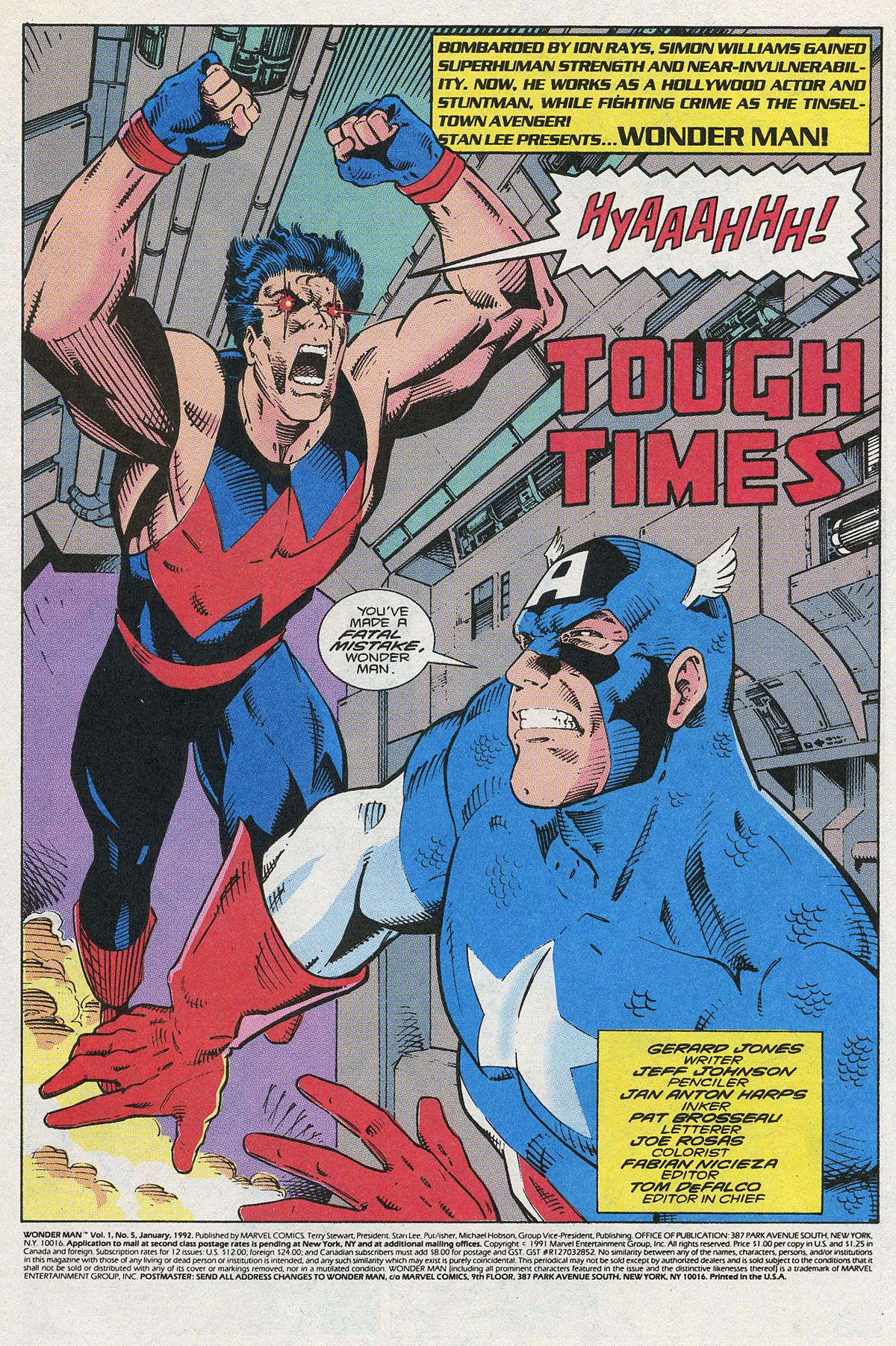 Read online Wonder Man (1991) comic -  Issue #5 - 2