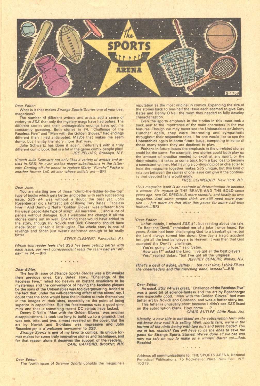 Read online Strange Sports Stories (1973) comic -  Issue #6 - 12