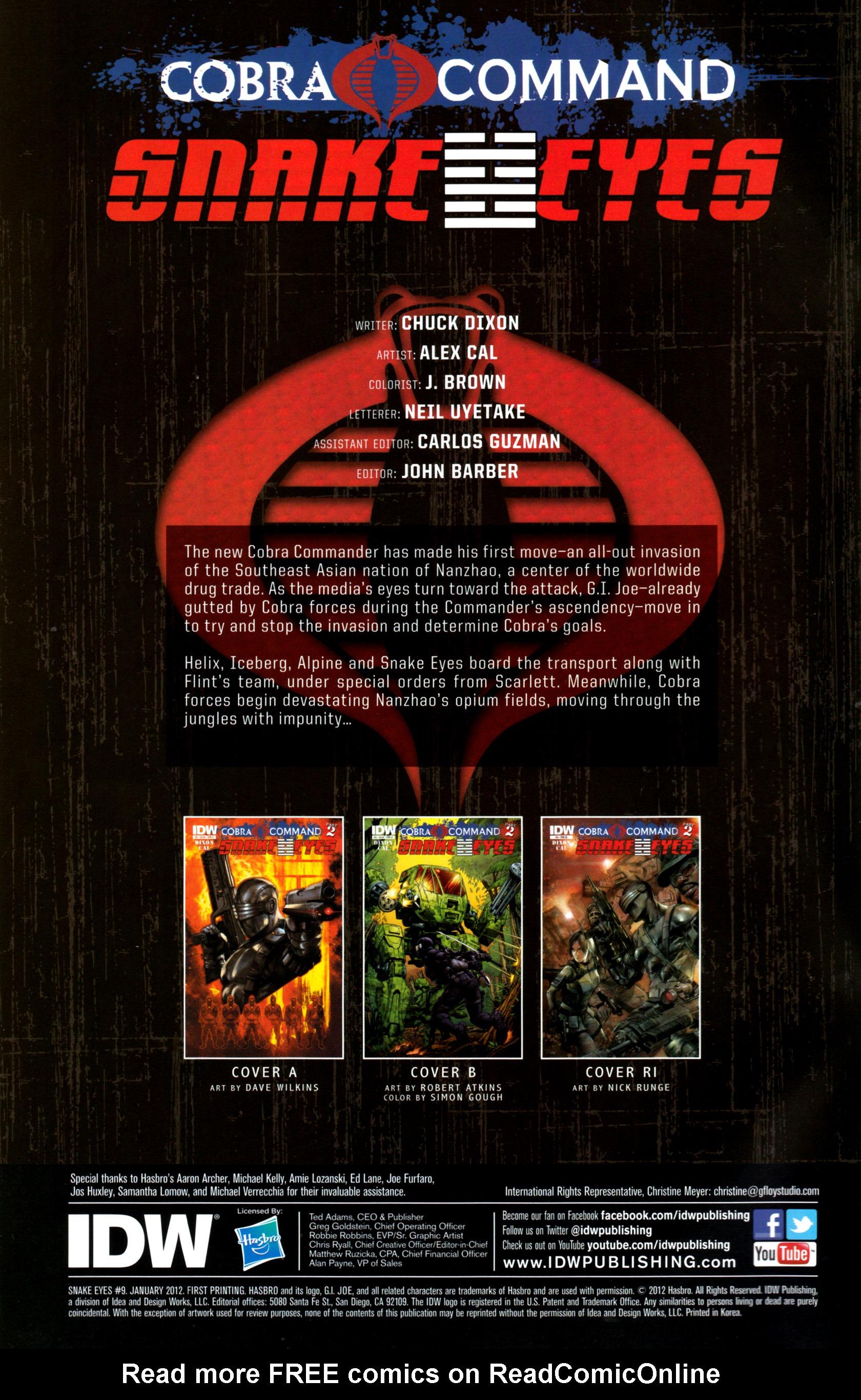 Read online G.I. Joe: Snake Eyes comic -  Issue #9 - 3
