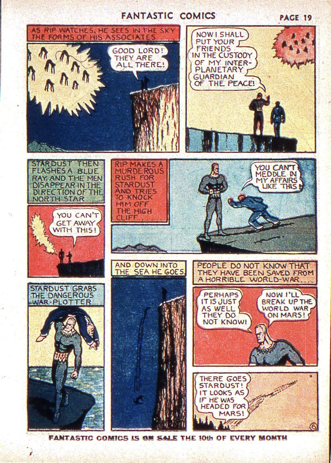 Read online Fantastic Comics comic -  Issue #2 - 21
