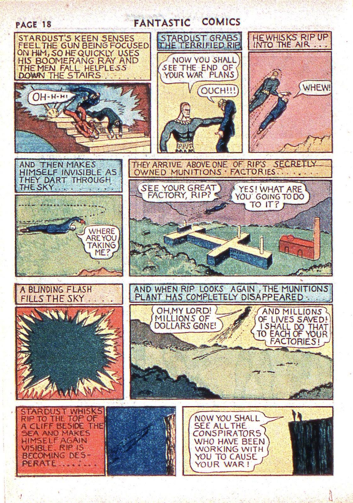 Read online Fantastic Comics comic -  Issue #2 - 20