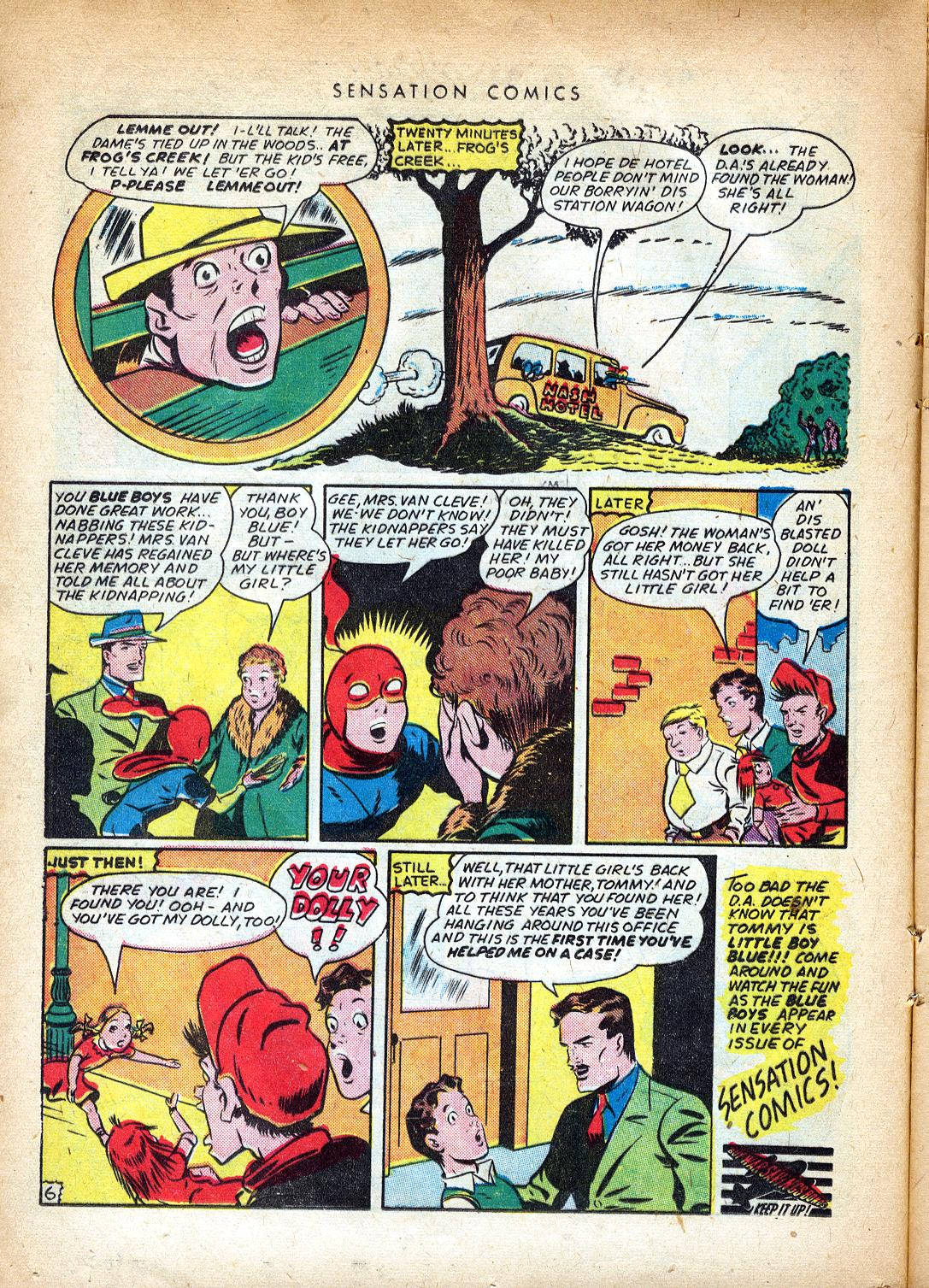 Read online Sensation (Mystery) Comics comic -  Issue #37 - 22