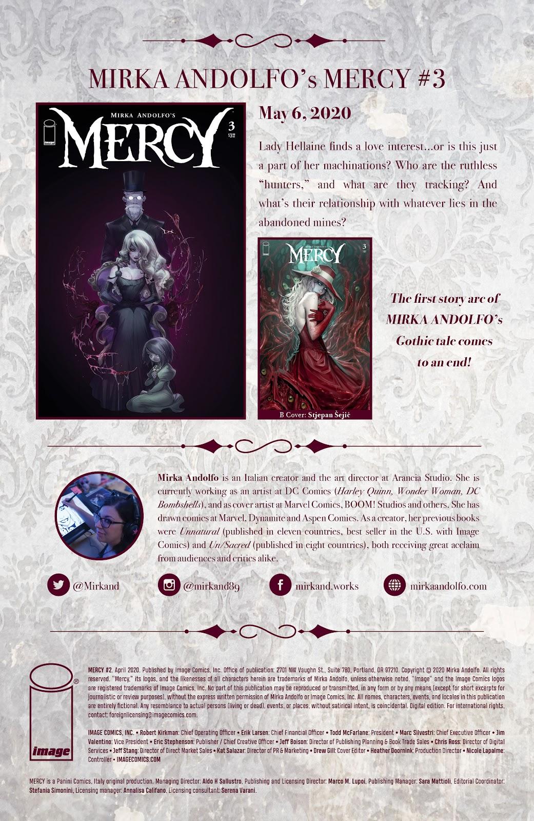 Read online Mirka Andolfo's Mercy comic -  Issue #2 - 30