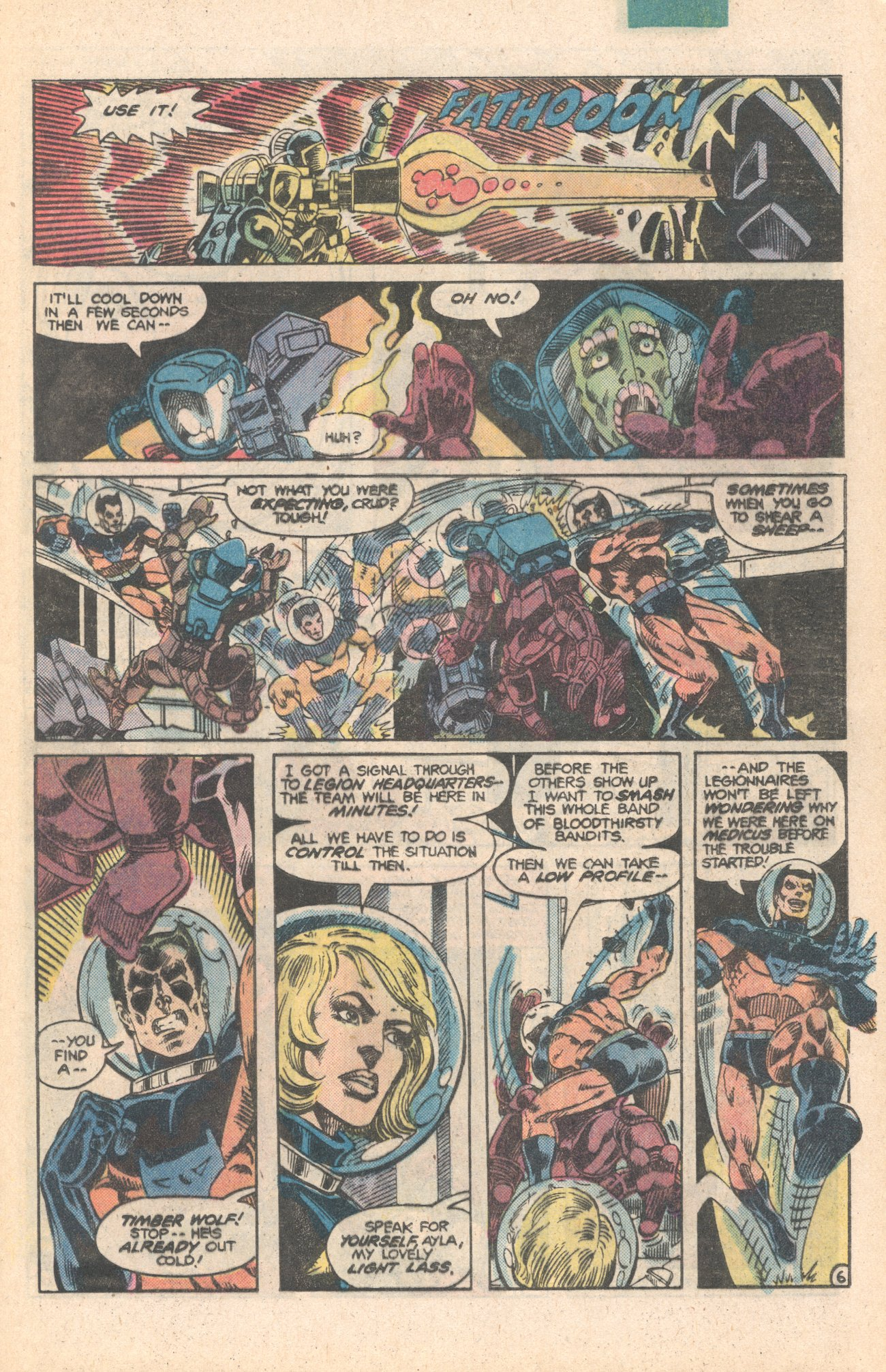 Legion of Super-Heroes (1980) 284 Page 6
