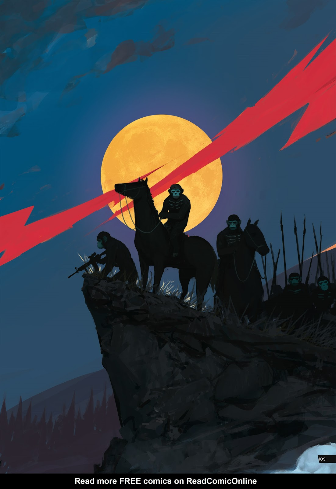 Read online Planet of the Apes Artist Tribute comic -  Issue # TPB - 109