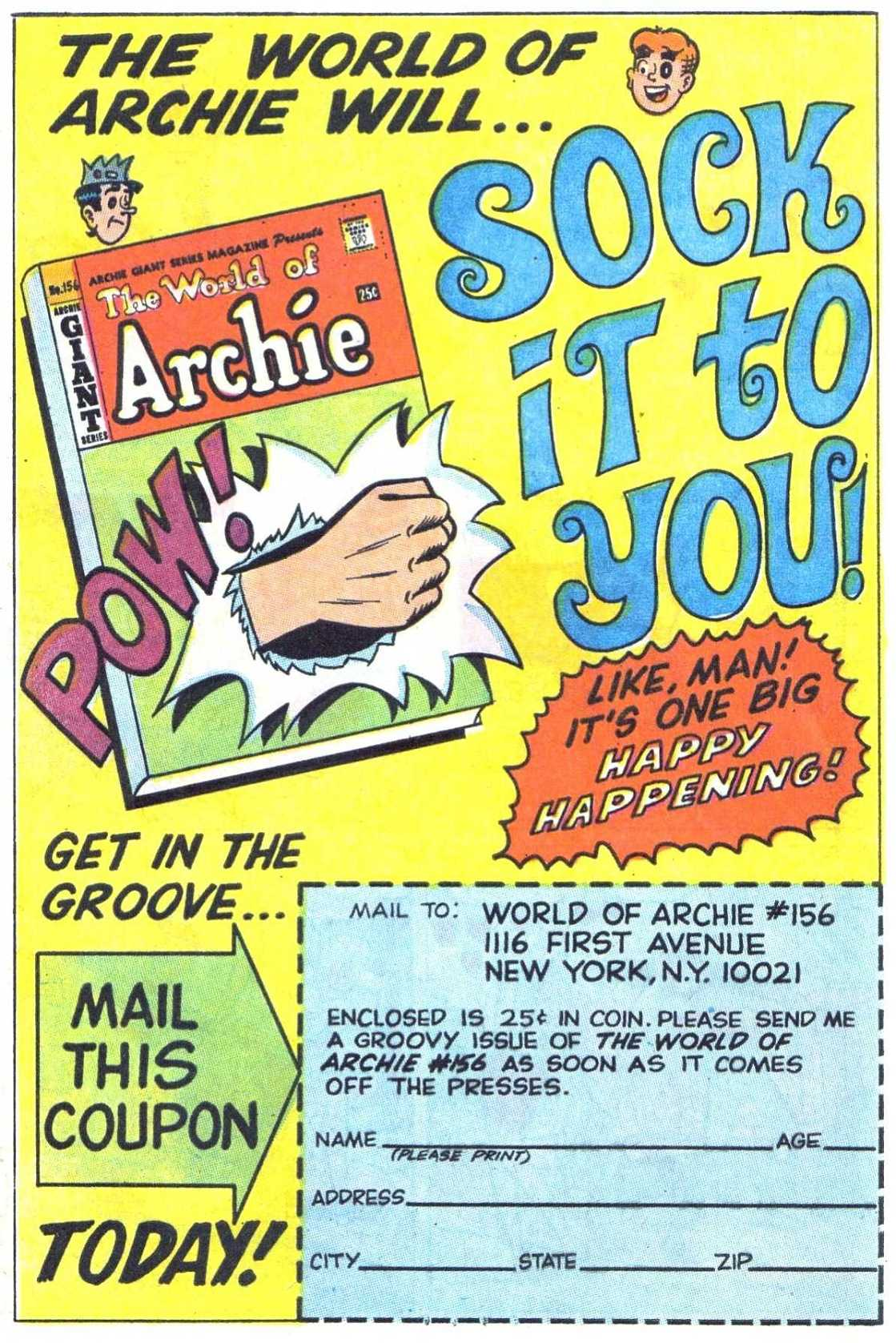 Read online Archie (1960) comic -  Issue #185 - 19