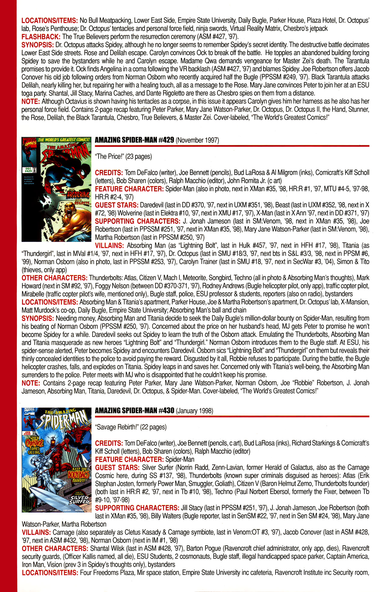 Read online Official Index to the Marvel Universe comic -  Issue #10 - 20
