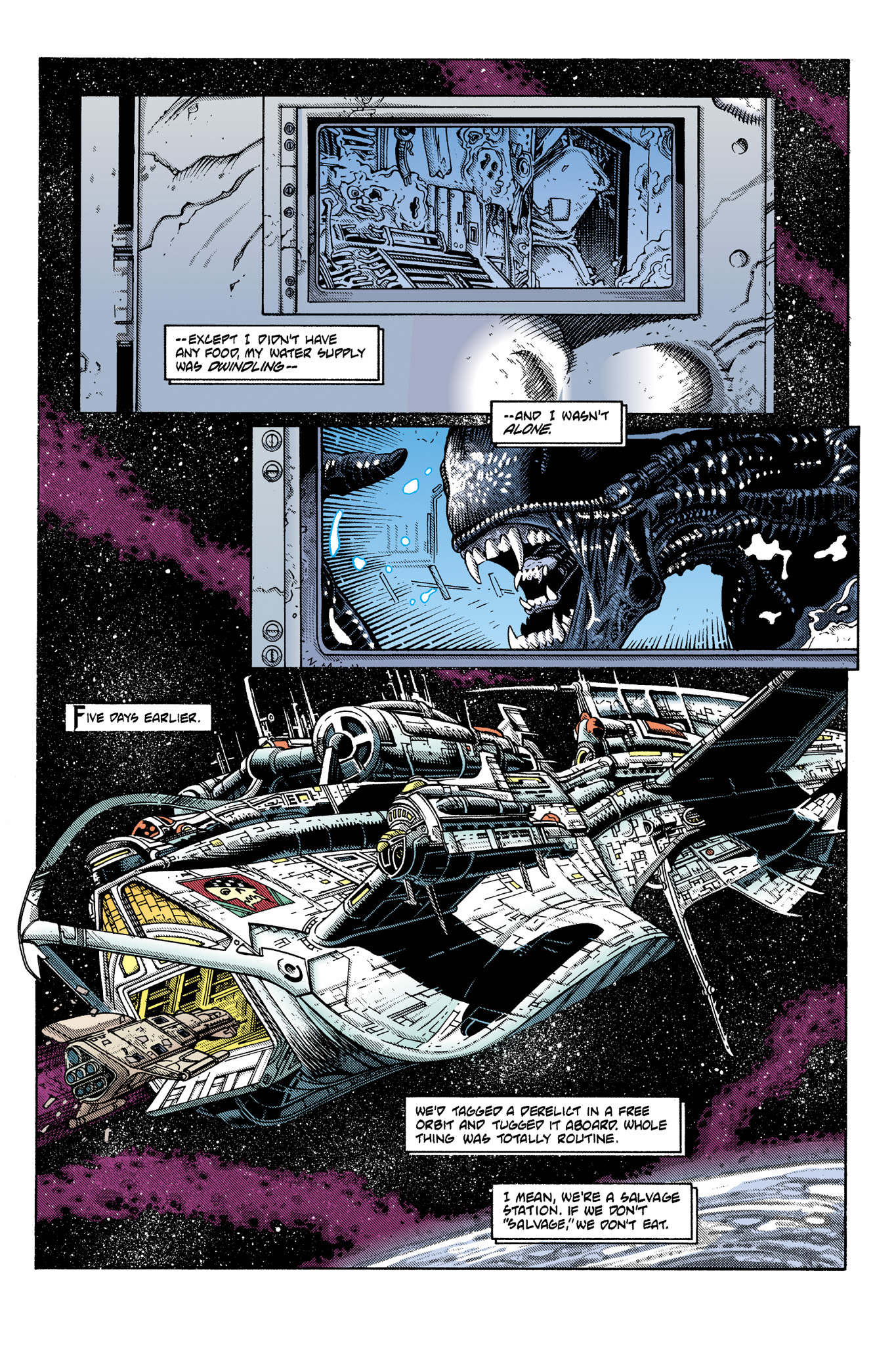 Read online Aliens: Incubation/Lucky/Taste comic -  Issue # Full - 18