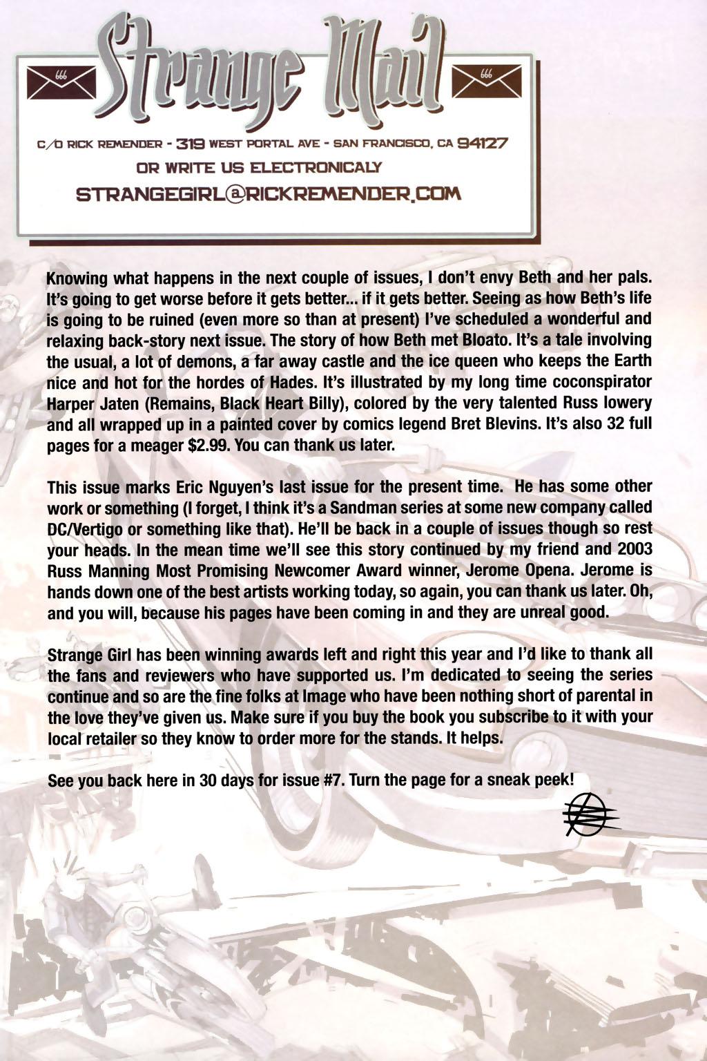 Read online Strange Girl comic -  Issue #6 - 23