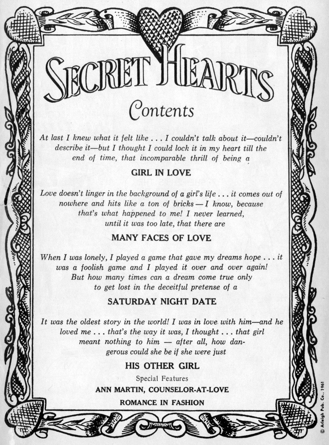 Read online Secret Hearts comic -  Issue #70 - 2