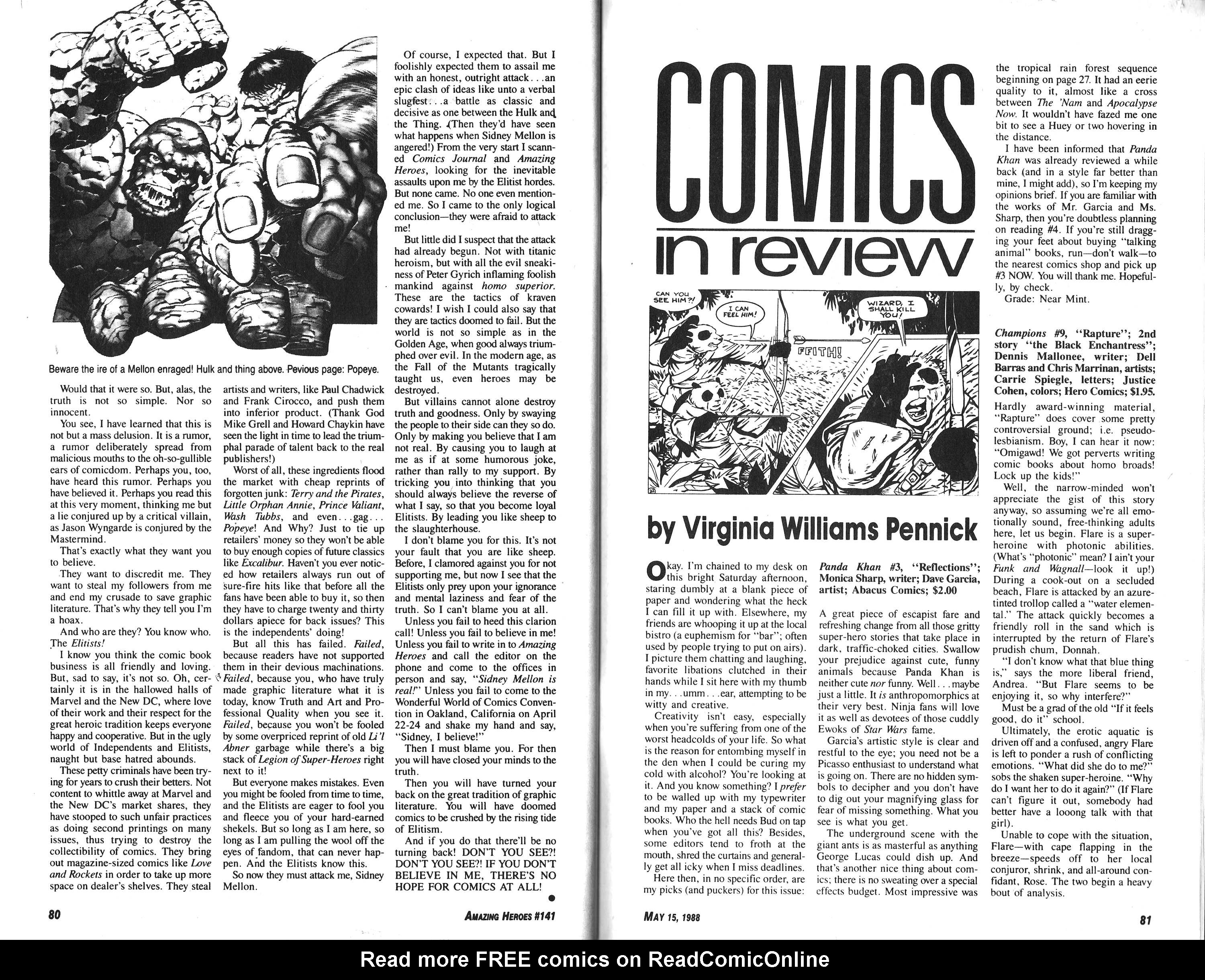 Read online Amazing Heroes comic -  Issue #141 - 41
