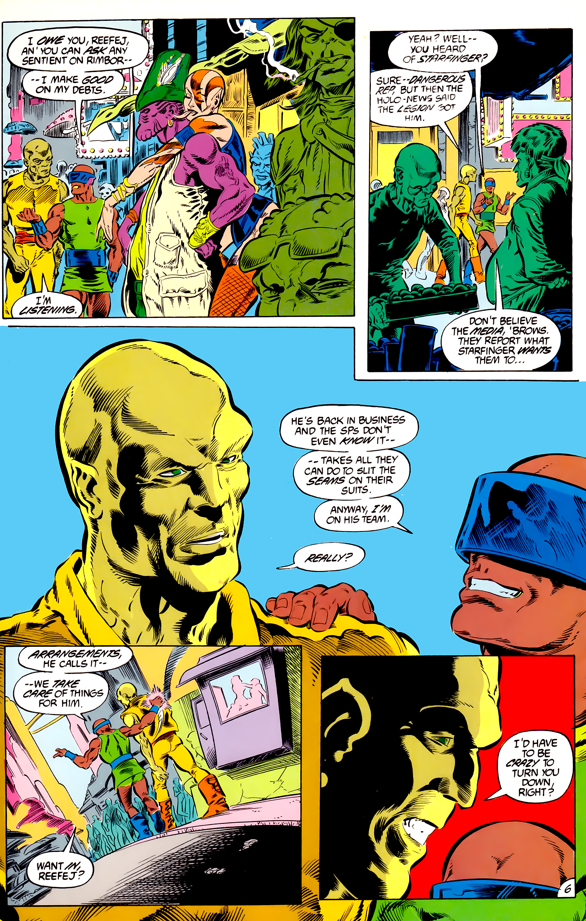 Legion of Super-Heroes (1984) 46 Page 6