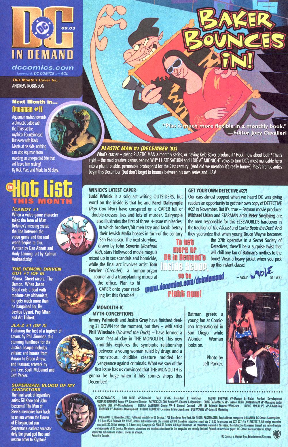 Read online Aquaman (2003) comic -  Issue #10 - 25