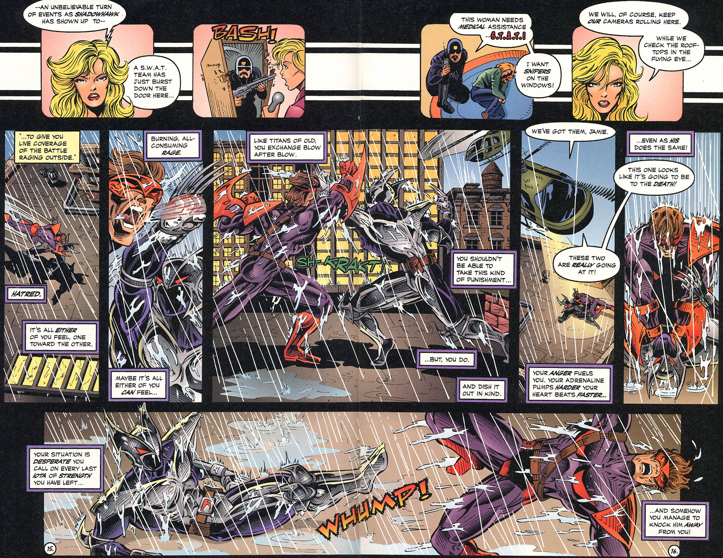 Read online ShadowHawk comic -  Issue #18 - 17
