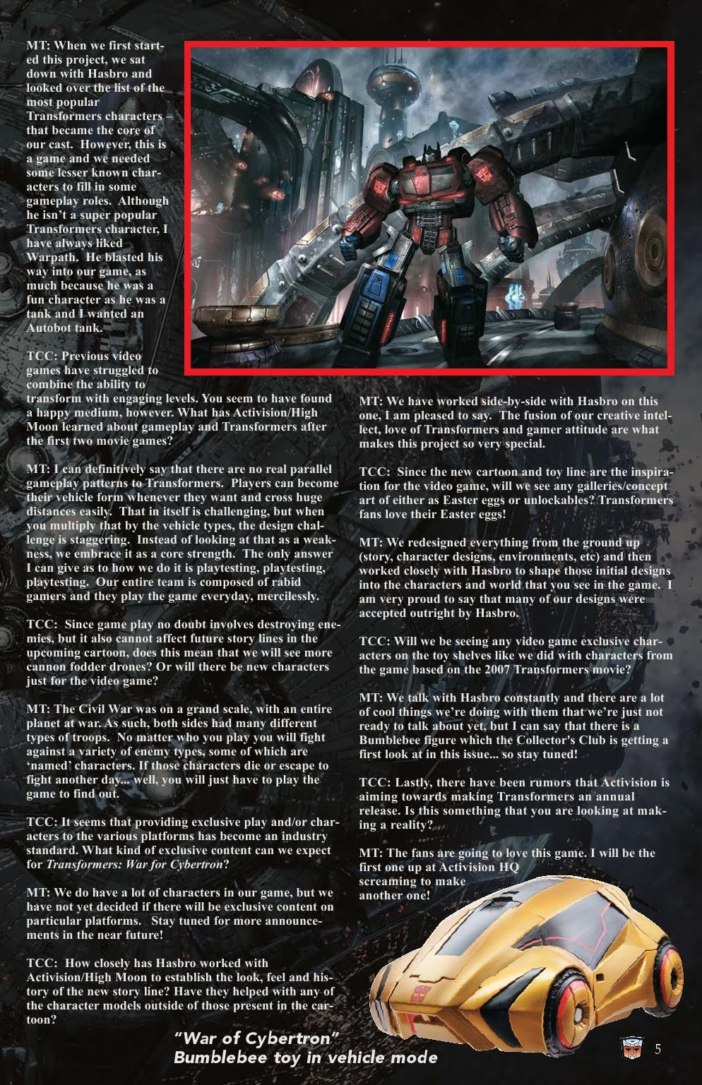 Read online Transformers: Collectors' Club comic -  Issue #31 - 5