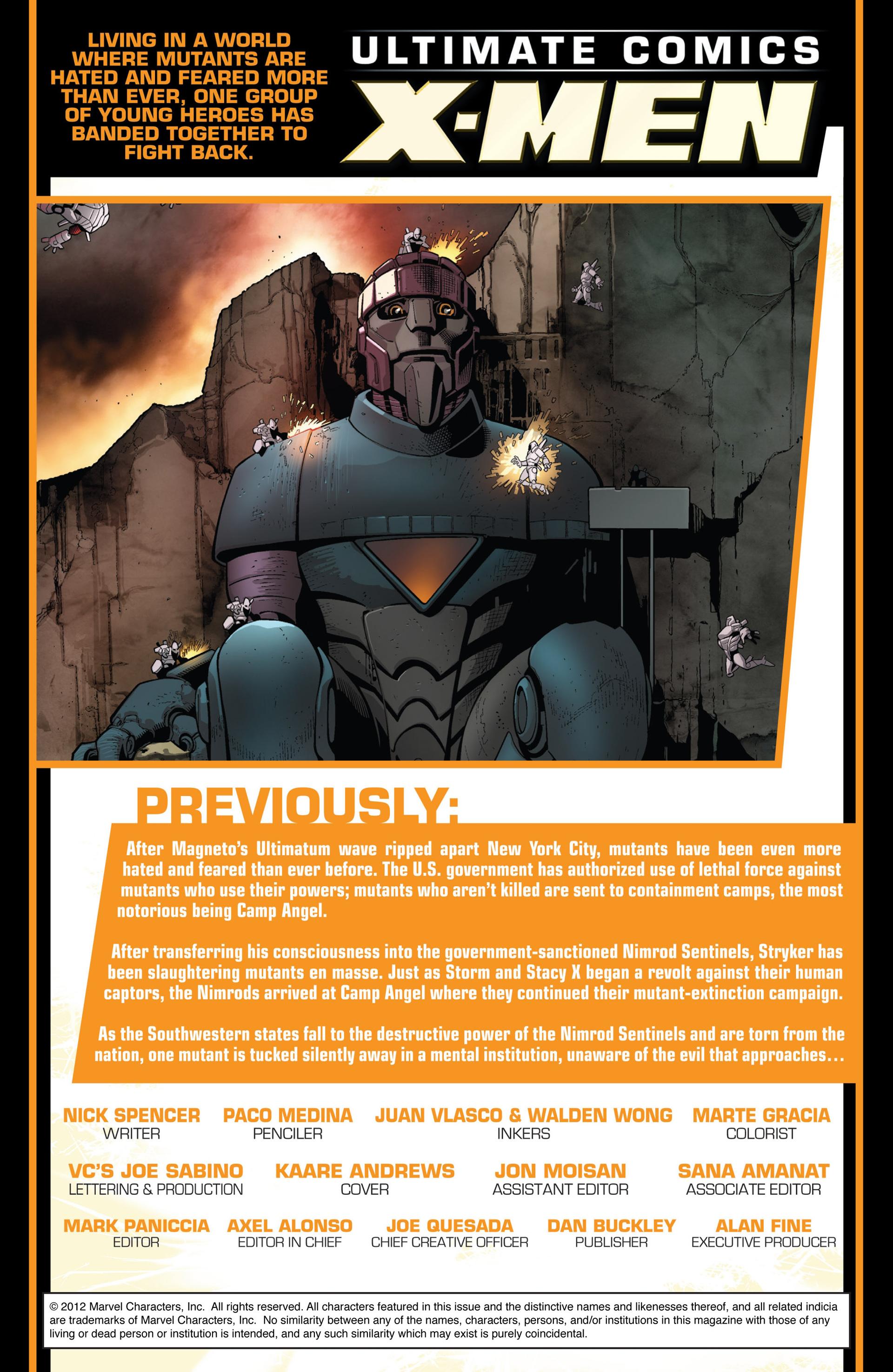 Read online Ultimate Comics X-Men comic -  Issue #12 - 2