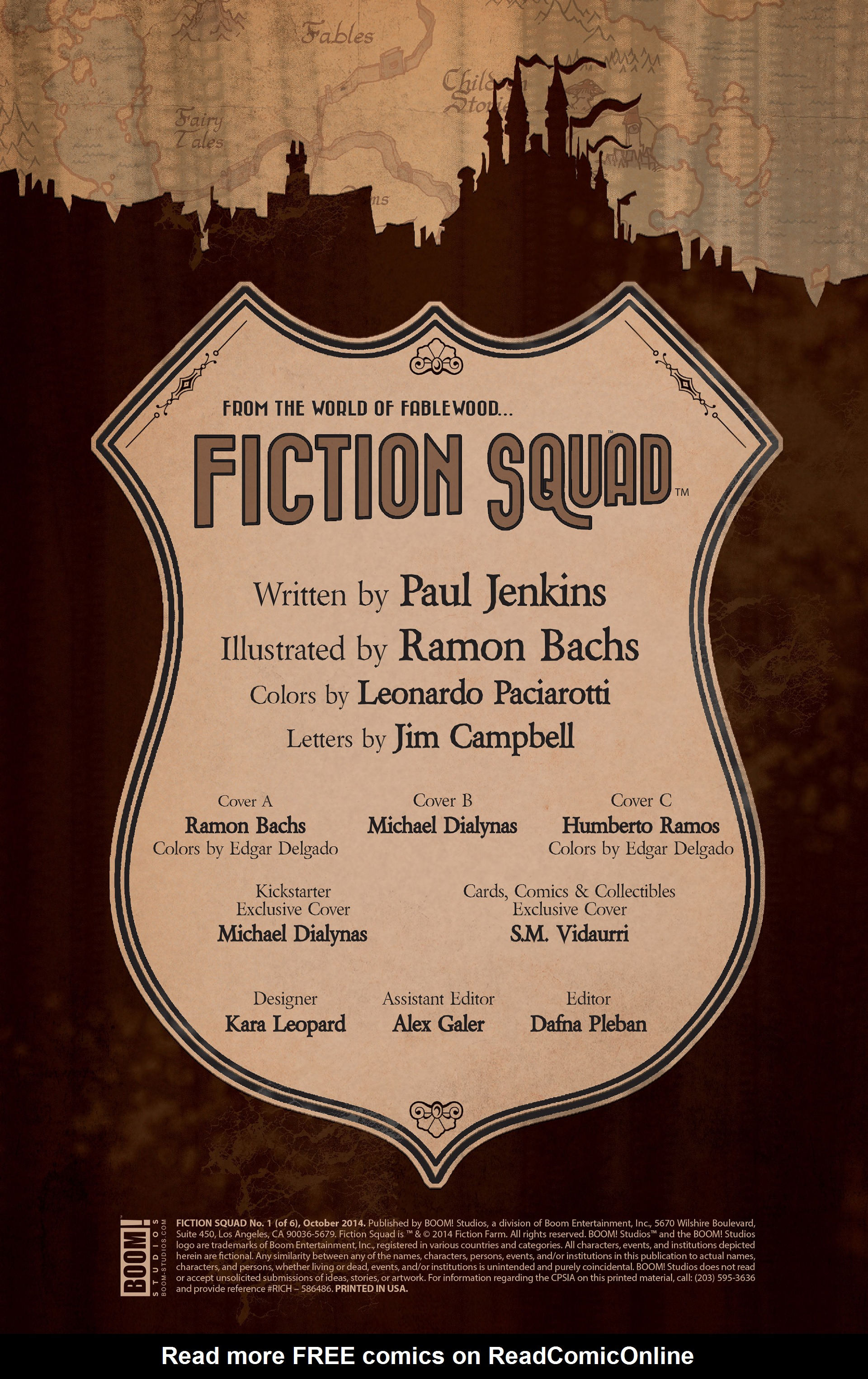 Read online Fiction Squad comic -  Issue #1 - 2