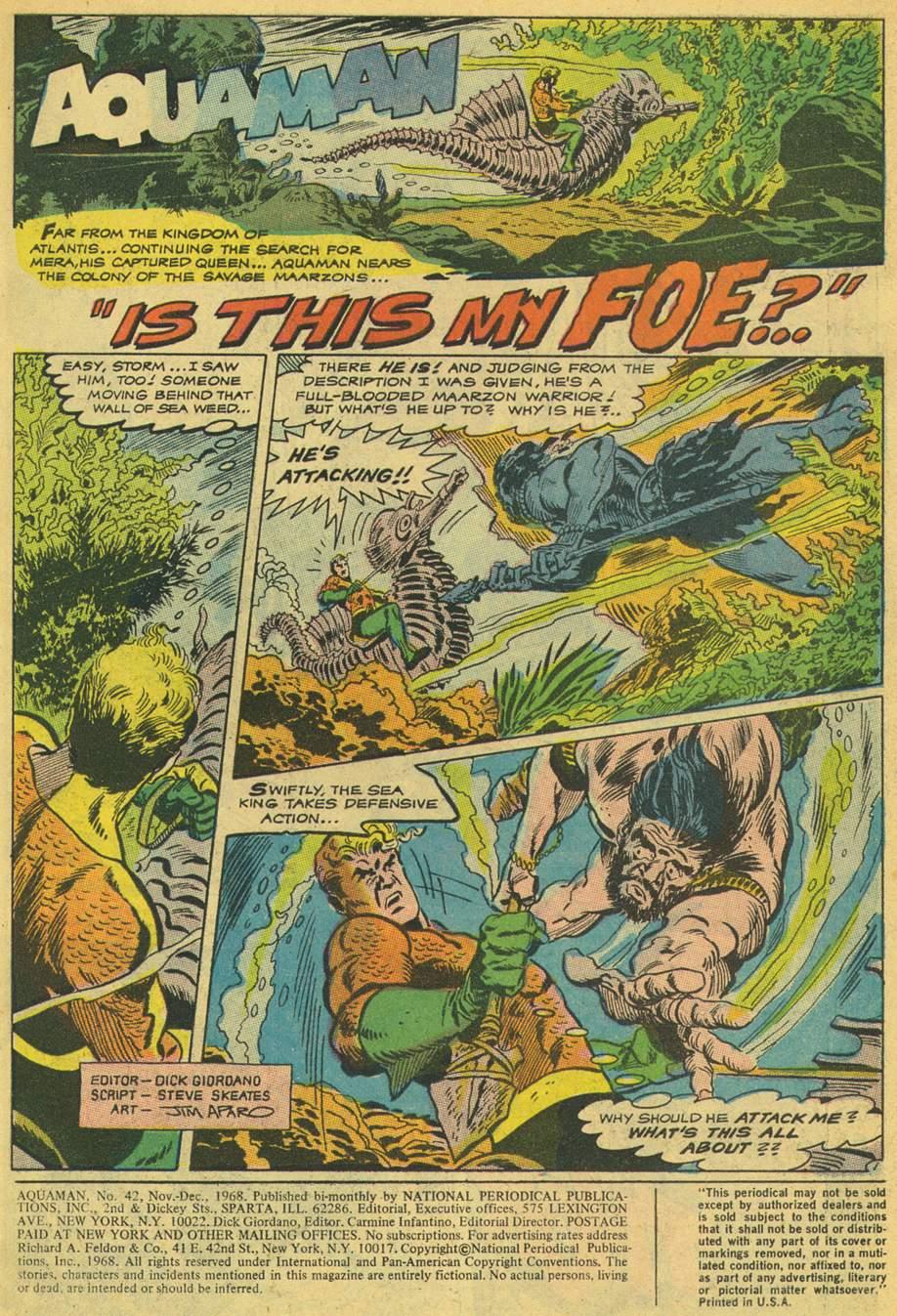 Read online Aquaman (1962) comic -  Issue #42 - 3