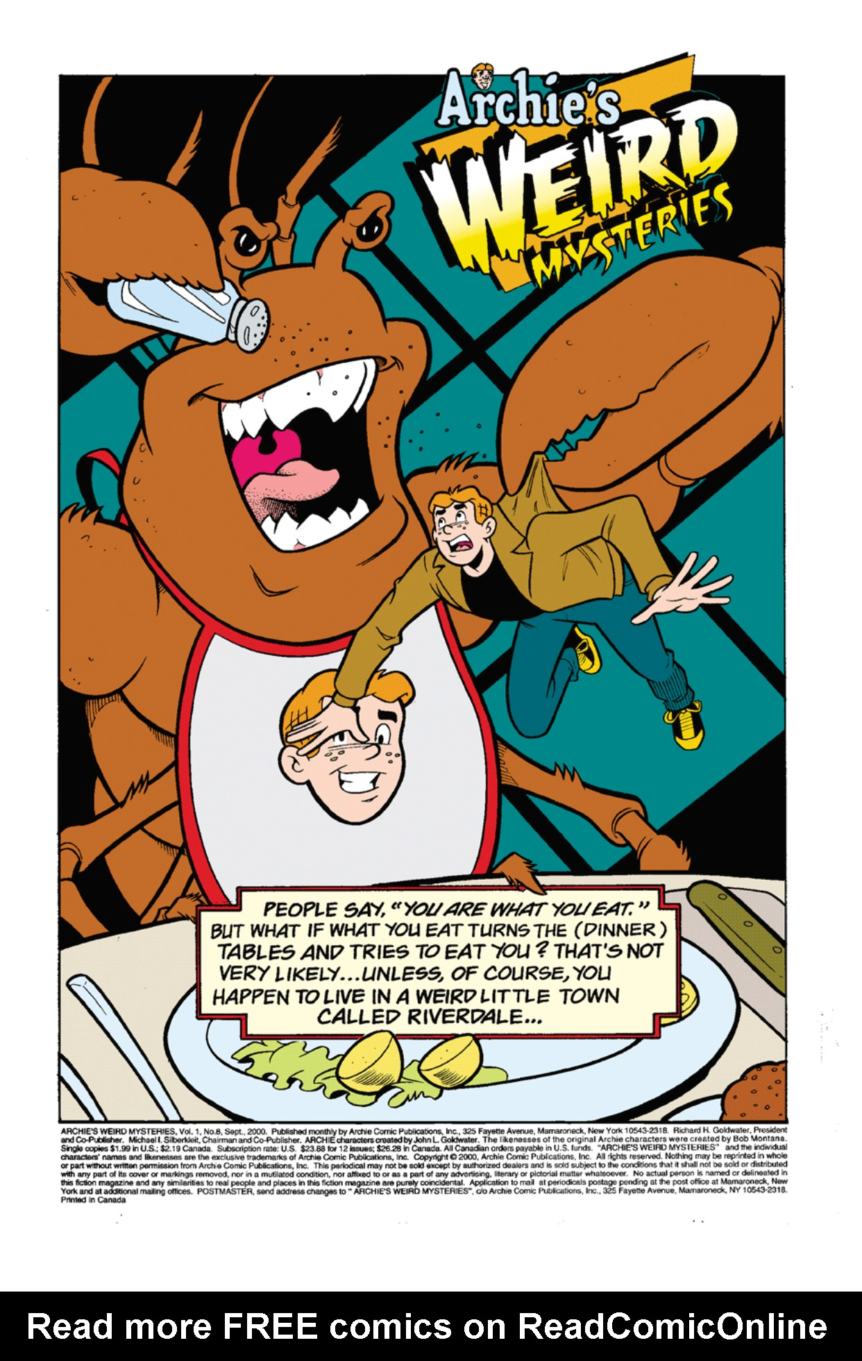 Read online Archie's Weird Mysteries comic -  Issue #8 - 2