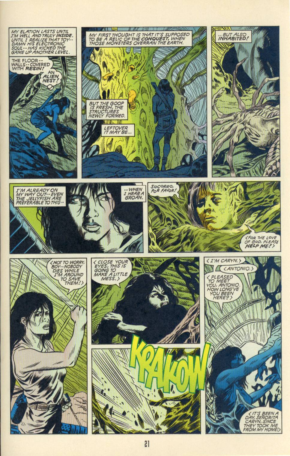 Read online Aliens/Predator: The Deadliest of the Species comic -  Issue #2 - 22