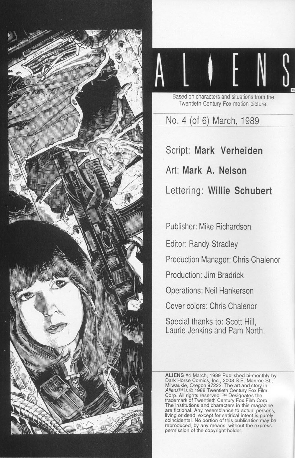 Read online Aliens (1988) comic -  Issue #4 - 2