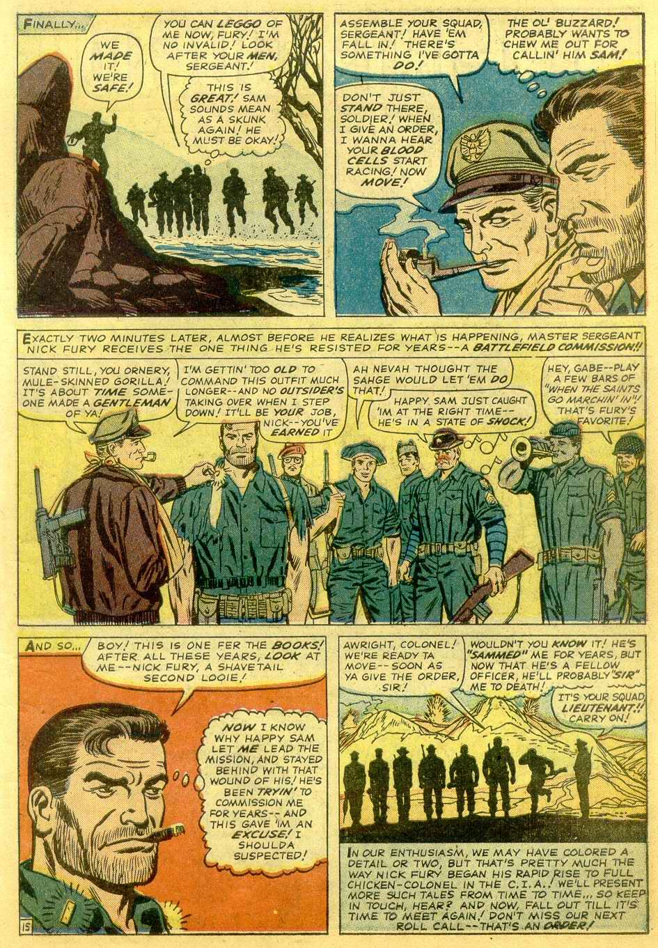 Read online Sgt. Fury comic -  Issue # _Annual 1 - 17
