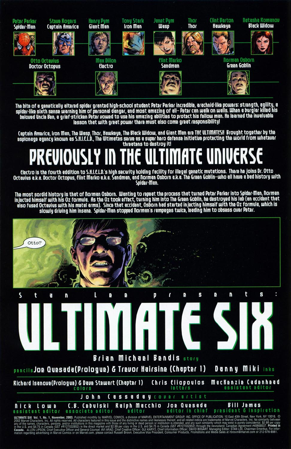 Read online Ultimate Six comic -  Issue #1 - 8