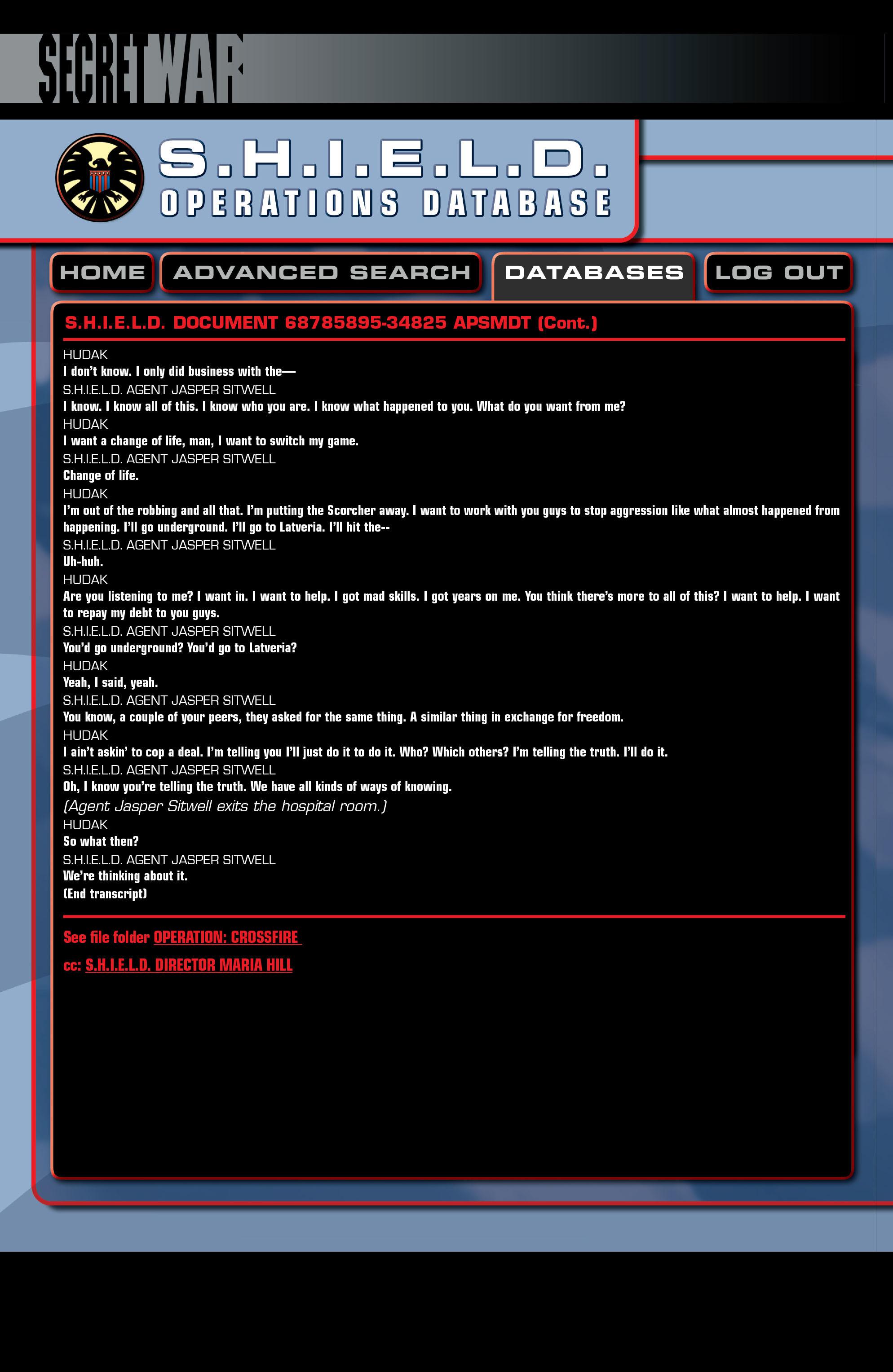Read online Secret War comic -  Issue # Full - 123