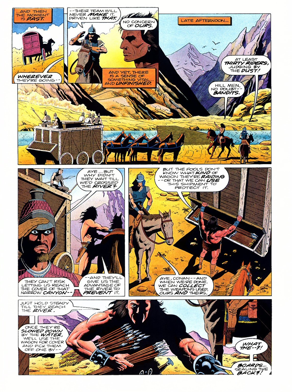Read online Marvel Graphic Novel: Conan the Barbarian: The Skull of Set comic -  Issue # Full - 11