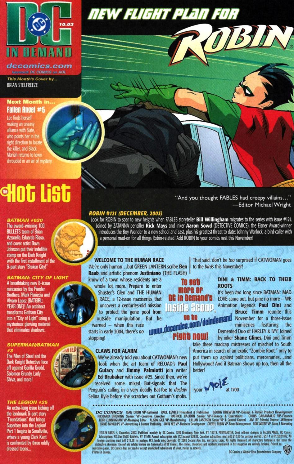 Read online Fallen Angel (2003) comic -  Issue #4 - 23
