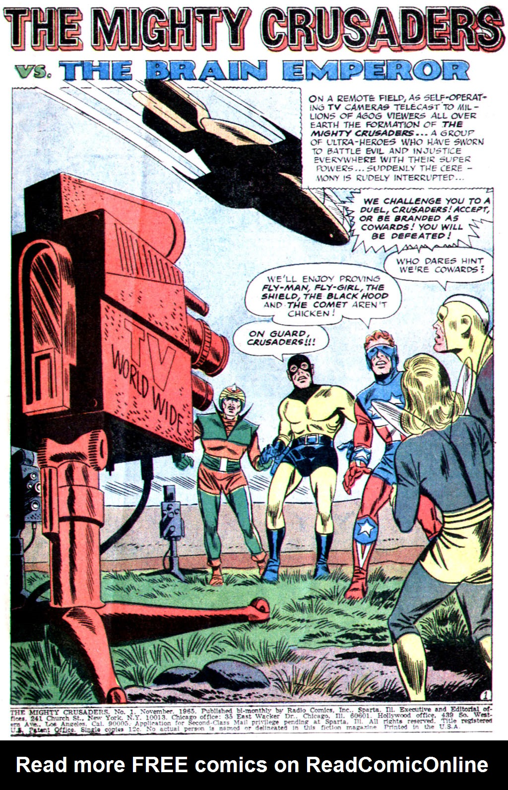 The Mighty Crusaders (1965) Issue #1 #1 - English 3