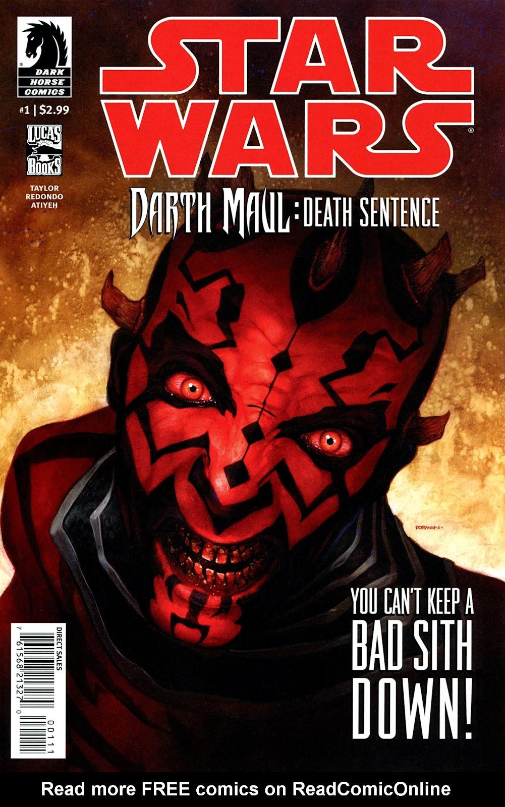 Star Wars: Darth Maul - Death Sentence 1 Page 1