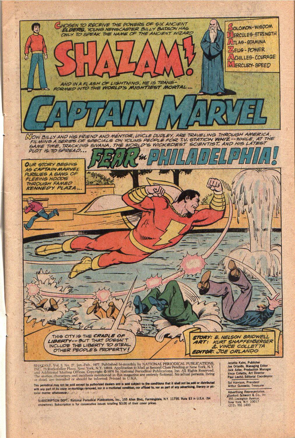 Read online Shazam! (1973) comic -  Issue #27 - 3