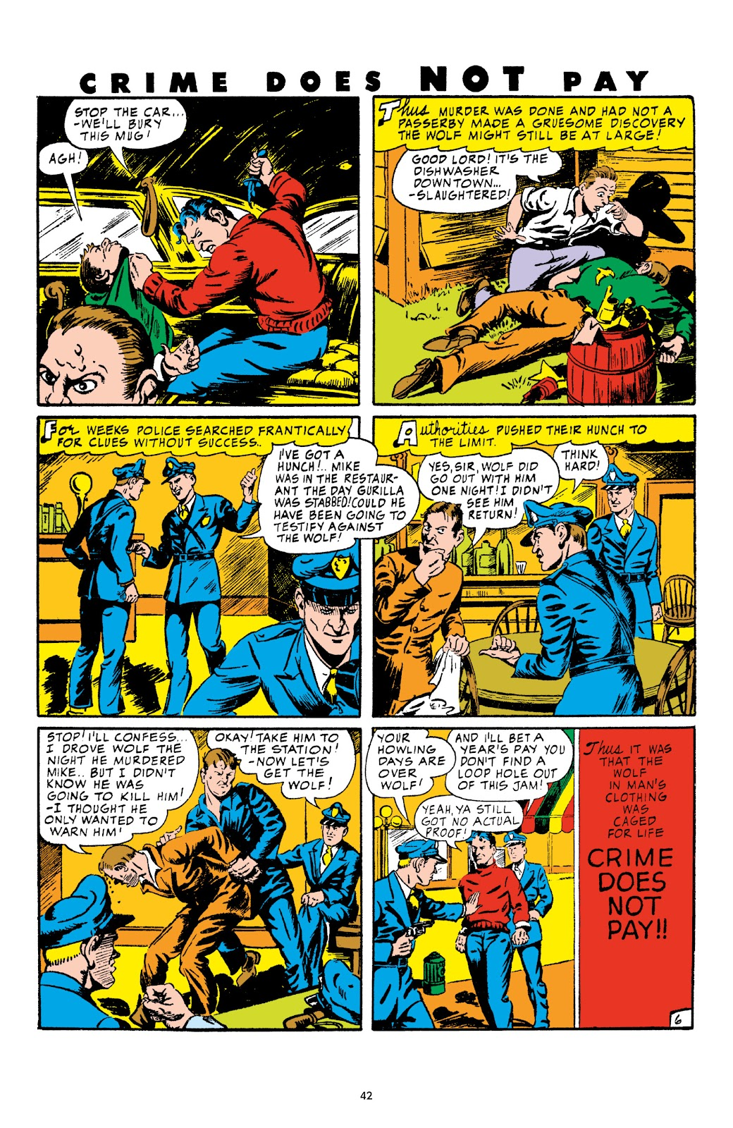 Read online Crime Does Not Pay Archives comic -  Issue # TPB 4 (Part 1) - 42